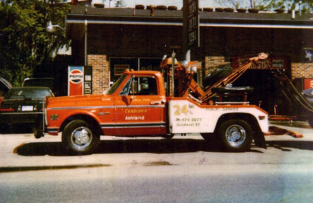 One of the first tow trucks in 1972